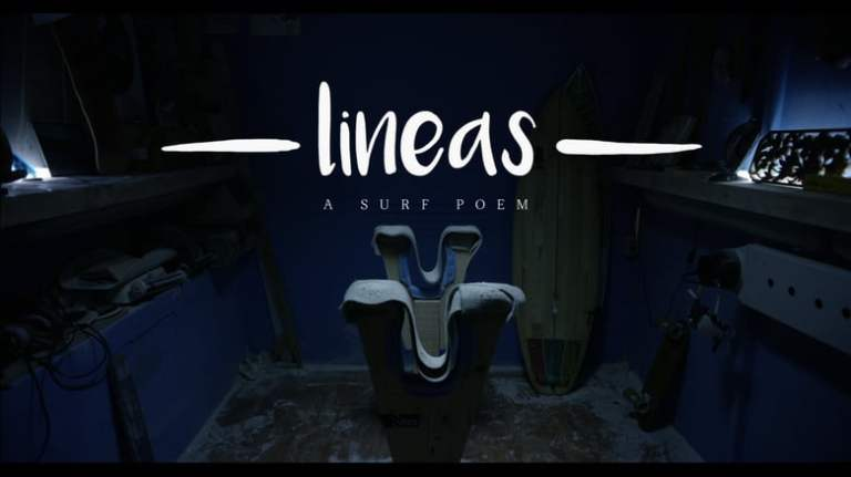 Lineas a Surf Poem
